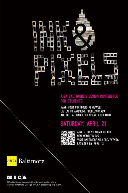Ink/Pixels winning poster design